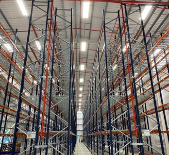 Tall warehouse storage after a full Locus warehouse clean