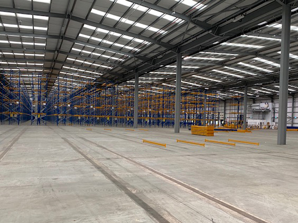 A clean warehouse after a full warehouse and factory clean by Locus